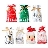 Santa regalo sacchetto di caramella sacchetto di neve fiocco di neve croccante coulisse allegro decorazioni natalizie per la casa Capodanno 2021 Presents Pfene