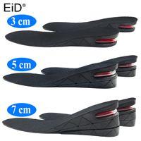 Cojines nserts Eid 3-7 cm aumento de la altura de la plantilla del amortiguador altura de elevación de corte ajustable de zapatos de tacón Insertar Taller shockarch Absorbente de Apoyo ...
