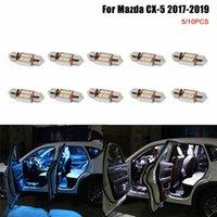 Pour CX 5 CX5 2017 2018 2019 Ampoules à LED Auto Auto Intérieur Éclairage Bleu Lampe de lecture Blanc Lampes d'intérieur CX 5 Lecture Light X8O9 #