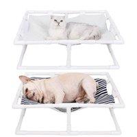 سوبر لينة الكلب سرير المرتفعة سرير القطة الأليفة حصيرة سرير البيت بدون وسادة الحيوانات الأليفة المنتج ملحقات سهلة لتجميع المحمولة