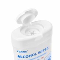 50PCS برميل 75٪ الكحول مناديل مبللة اليد الجلد التنظيف العناية التعقيم المسحات الكحول التطهير شحن مجاني UPS / DHL بوكل-2030