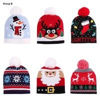 Рождество Hat Winter Вязаная Теплый младенца детей Шапочки Caps Christmas Deer Снеговик Медведь Санта Клаус девушки мальчика шлемов Caps DHL