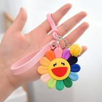 2020 Yeni Renkli Yumuşak Sunshine Anahtarlık Sun Flower Anahtarlık Araç Ayçiçeği Anahtarlık kolye Takı İyi Olay Hediye Gülümseme