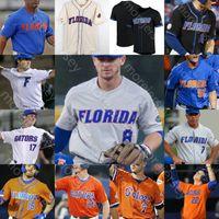 Özel Florida Gators Jersey NCAA Beyzbol Koleji Austin Langworthy Cory Acton Brady Smith Ben Specht David Eckstein David Ross Mike Zunino