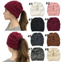 Criss- cross Ribbed Beanie Hat 2020 New Arrival Warm Back Cro...
