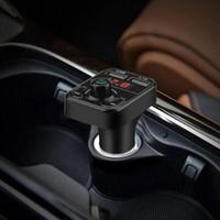 شاحن Vehemo السيارة 12V العالمي FM مرسل بلوتوث راديو لاسلكي محول محول FM USB كشف الجهد