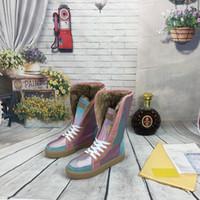2020 сапоги женские зимние снежные сапоги замшевые натуральные мешки скользиты кожаные водонепроницаемые зимние теплые колены высокие сапоги мода женская обувь размер 35-42