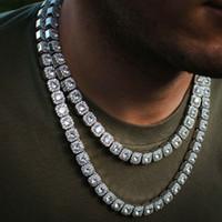 14 كيلو الذهب الأصفر مجمعة الماس التنس سلسلة حقيقية الصلبة الجليدية رجل 10 ملليمتر مكعب الزركون الحجارة بلينغ التنس سلسلة الهيب هوب 18 بوصة 22 بوصة