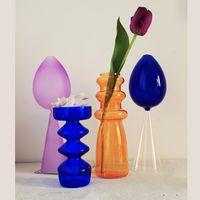 Vases Vase Mariages Centerpieces fleurs en verre Tabletops nordique Dried artificielle Vase de fleurs Bouteille restaurant Décoration