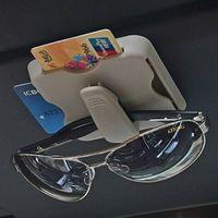 Автомобильный стайлинг автомобилей Солнцезащитный козырек CD DVD карта Mesh Организатор стекла Ручка Урны Дело Авто Многофункциональный хранения держатель зажима мешка