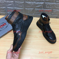 Louis Vuitton Shoes  Herren Schuhe Voll Cushioned Männer Neon Triple Black Carbon-Grau-Sonnenuntergang-Turnschuhe Leder Männer Casua Schuhe Herrenschuhe kein Kasten