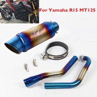 MT125 de escape de la motocicleta R15 silenciador de escape deflector tubo delantero tubo colector de conexión para R15 MT125 V1 V2