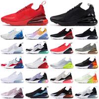 270 Männer Schuhe Schwarz Triple White Kissen Damen Herren Sneakers Mode Leichtathletik Trainer Laufschuhe Größe 36-45