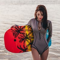 긴 소매 서핑 수영복 여성 잠수복 여성 섹시한 높은 탄력성 Zippr 스노클링 Spearfishing Jumpsuit