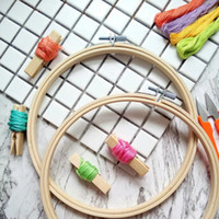 Швейные понятия инструменты 3 шт. / Лот бамбуковые вышивка обручи, аксессуары для вышивки вышивки рукоделия, корабль Hoop, Diy Hoop для шитья, фоторамка W