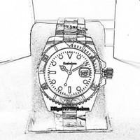 Uomo Nuovo Luxusuhr orologi funzione luminosa 2.813 movimento dell'orologio automatico 40 millimetri di superficie Red lunetta Sapphire montre de luxe calendario orologio da polso