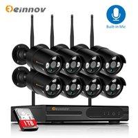 أنظمة Einnov 1080P كاميرا IP في الهواء الطلق WiFi 8ch CCTV مجموعة الأمن اللاسلكي مراقبة الفيديو NVR كيت التحكم عن بعد HD