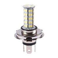 H4 3528 68-SMD LED 6500K 310-Lumen bianco di nebbia della luce del faro dell'automobile di CC 12V