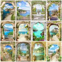 Dipinti Evershhine Diamante Pittura Seaside Paesaggio Cross Stitch Ricamo Arco Arco quadro di Strass Art Kit Arredamento da parete