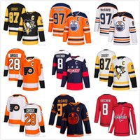 Sidney Crosby Pittsburgh Penguins Connor McDavid Edmonton Oilers Alex Ovechkin Washington Capitais Claude Giroux Philadelphia Flyers Jersey