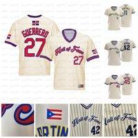 42 Mariano Rivera 27 Vladimir Guerrero 11 Edgar Martinez Dominicano 45 Pedro Martinez Hall of Fame Team Baseball Team personalizzato Jersey di baseball
