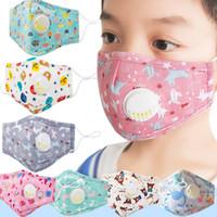 Fashion enfant enfants masque dessin animé garçons filles blanche vanve blanche masque anti-pollution imprimé renard ours masques de visage réglables
