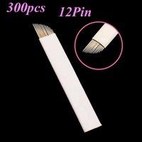 12 Flex Lamina Tebori Microblading Aghi Pernement trucco Lama per 300pcs manuale Pen Agulhas Para sopracciglio