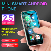Son Android Cep telefonları Mini Akıllı Telefonu Çift SIM QuadCore Mobil Cep Telefonu Öğrenciler Dokunmatik 3G Smartphone HD Kamera Cep Telefonları