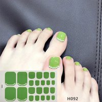 22 dicas / folha Toe Nail Art Stickers Manchar Nail Polish Designs DIY Etiqueta 3D Manicure Waterproof 2020 New Unha Dicas Set
