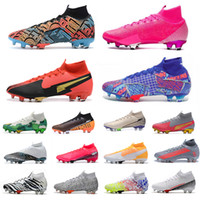 الطول الموجي حزم الفولاذ الليزر البرتقالي الزئبق Superfly 7 النخبة أحذية كرة القدم الأحذية سفاري MBAPPE روزا وردي انفجار كوريا لكرة القدم