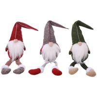 Gnome Faceless Puppen Handgemachte Weihnachts Plüsch-Puppen Weihnachtsmann-Anhänger Fensterdekoration 3 Styles DHE123