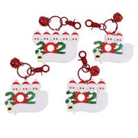 Llavero de Navidad de dibujos animados Santa Claus con la máscara de Navidad colgante llavero Árbol del ornamento Llavero Family Friend regalos DDA597