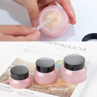 10PCS 15g / 30g / 50g vacíos rosa cosméticos Botellas de cristal crema facial punta del envase tarro de muestra Viaje viales de color ámbar Ollas Maquillaje