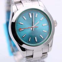 New Limited Automatico in acciaio inox GD2813 Movimento 39mm Mens Guarda orologi 316L Acciaio inossidabile 116400 Blue Dial Dial Wristwatch da polso