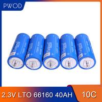 Free Shipping 12pcs 2.3V 66160 40Ah 35Ah 30Ah cellulare LTO Batteria al litio titanato Batteria per DIY 12V 24V 36V 48V 60V Confezione