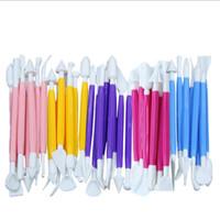 50sets 8PCS / set Messer-Stich-Werkzeuge Fondant gravierten Kugelschreiber Paste Blumen-Kuchen-Form-Backen-Biskuit-Fondant DIY Werkzeug Dekoration