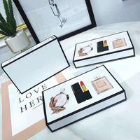 Famosa marca de maquillaje conjunto colección mate lápiz labial 15 ml perfume 3 en 1 kit cosmético con caja de regalo para mujeres entrega rápida