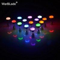 Gestüt Charm LED-Ohrring Licht hoch Krone Glühen Kristall Edelstahl Ohr Drop Flache Runde Ohrringe Schmuck für Frauen Partei Zubehör