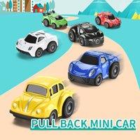 48PCS / Set Sevimli Mini Döküm Araba Alaşım Çekme Geri Vasıta Model Oyuncak Metal Güzel Renkli Araba Oyuncak Alaşım Araba İçin Çocuk Hediye