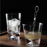 Yaratıcı Fuji Dağı fincan Tumblers Drinkware Kar dağ cam ev kristal cam wate / yüzlü bardak elle kesilmiş Basit Kısa Şişe 0215