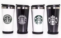 The latest 16OZ double-layer plastic stainless steel Starbucks coffee cup, Starbucks stainless steel vacuum flask, free shipping