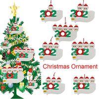 2020 عيد الميلاد زخرفة شخصية الناجي الأسرة 1 2 3 4 5 PVC زينة قناع باليد غسلها شجرة عيد الميلاد الشنق قلادة IIA676