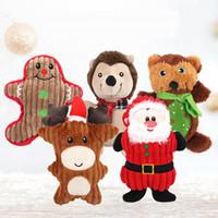 عيد الميلاد الحيوانات الأليفة أفخم اللعب الصوتية سانتا ثلج الدب على شكل حيوانات أليفة مولي دغة اللعب جرو هدايا عيد HHE958