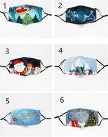 Máscaras de Navidad del partido de impresión Shade Resue transpirable de uso múltiple de la cara cubierta reutilización mondkapjes Máscara ajustable multiuso Cubierta