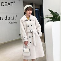 [DEAT] New Winter Fashion Women' s Coat Lapel Belt Lamb ...