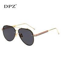 DPZ 2020 la marca de moda de diseño, hombres, mujeres gótica de Steampunk gafas de sol de espejo LENTE gradiente de colores oculos gafas de sol Gafas azules