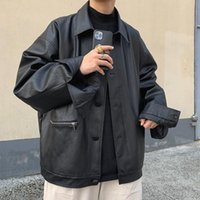 Herren übergroße Jacken Streetwear Beiläufige Lose Windjacke Mäntel Herbst Neue männliche Hip Hop Jacken Tops Oberbekleidung