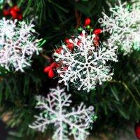 عيد الميلاد ندفة الثلج الاصطناعي 3PC / حزمة شجرة عيد الميلاد ديكور سنو وهمية الزينة رقاقات الثلج عيد الميلاد للنويل المنزل