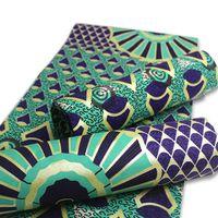 Di vendita 100% cotone d'oro cera Stampe tessuto Ankara Binta cera reale di alta qualità di 6 yard tessuto africano per il vestito da partito