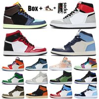 Top Quality Jumpman 1 Hommes Femmes Chaussures de basket-ball 1s Smoke Gray High OG Bio Hack Bloodline Satin-Snake Chicago Formateurs Chaussures de sport avec la boîte